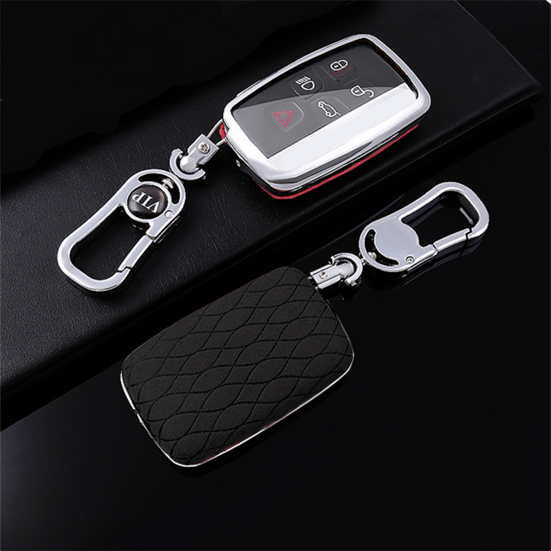 AIRSPEED TPU Key Case Cover Car Remote Fob Cover for Land Rover Range Rover Sport Evoque Freelander Discovery Jaguar XE XJ XJL XF C-X16(Silver)