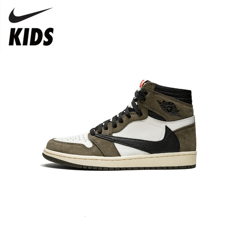 Nike Air Jordan 1 Original Kids Shoes Breathable Children Basketball Shoes Sports Comfortable Sneakers #CD4487-010