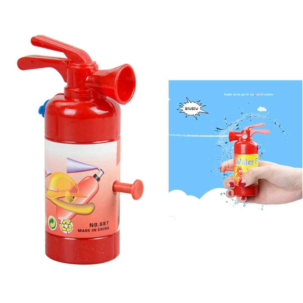 Simulation Fire Extinguisher Toy Plastic Water Gun Mini Spray Style Exercise Toys Gift Bathtub Bomberos Beach Squirt Toy 11 Cm