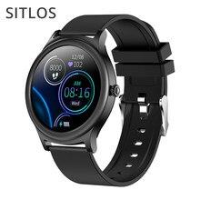 Sitlos v31 relógio inteligente dos homens 2021 ip67 à prova dip67 água feminino toque completo de fitness rastreador bluetooth smartwatch para gts 2 xiaomi telefone