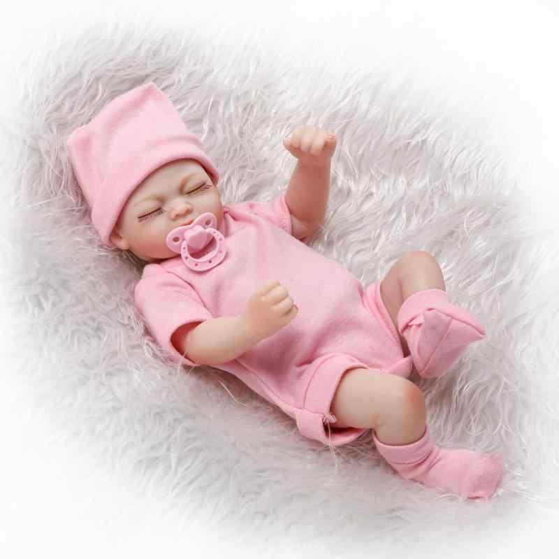 מלא גוף תינוק reborn מציאותי סיליקון רך אמיתי מגע ויניל סיליקון צעצועים לילדים על יום הולדת brinquedo אבזרים