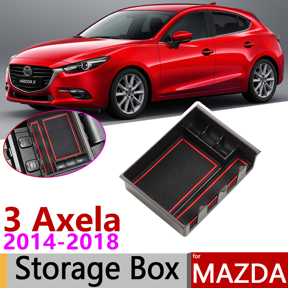 Carbon Fiber Car Inner Multimedia Panel Cover Trim For Mazda 3 Axela 2017 2018