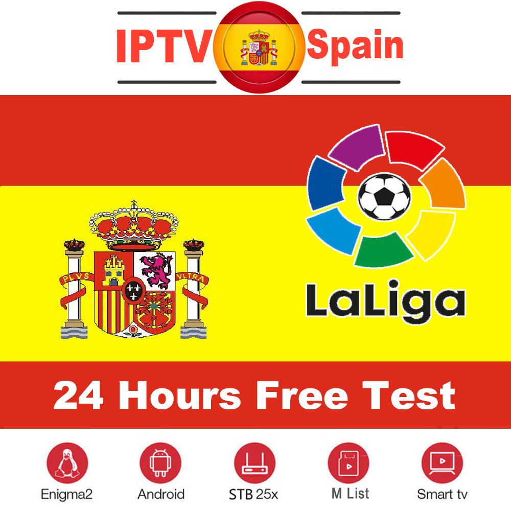 Spain IPTV Subscription 1 Year 300+ Full HD Spain Local Channels Live VOD Hot XXX For Android Box M3u Smart TV MAG Free Test
