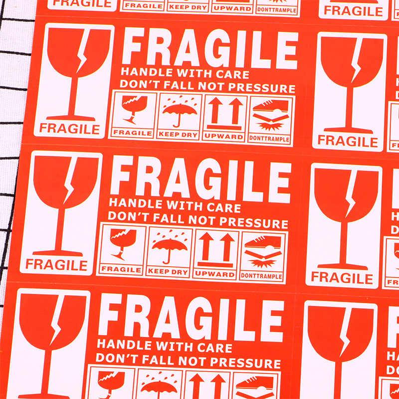 Etiquetas adhesivas de advertencia en inglés, 50 Uds.