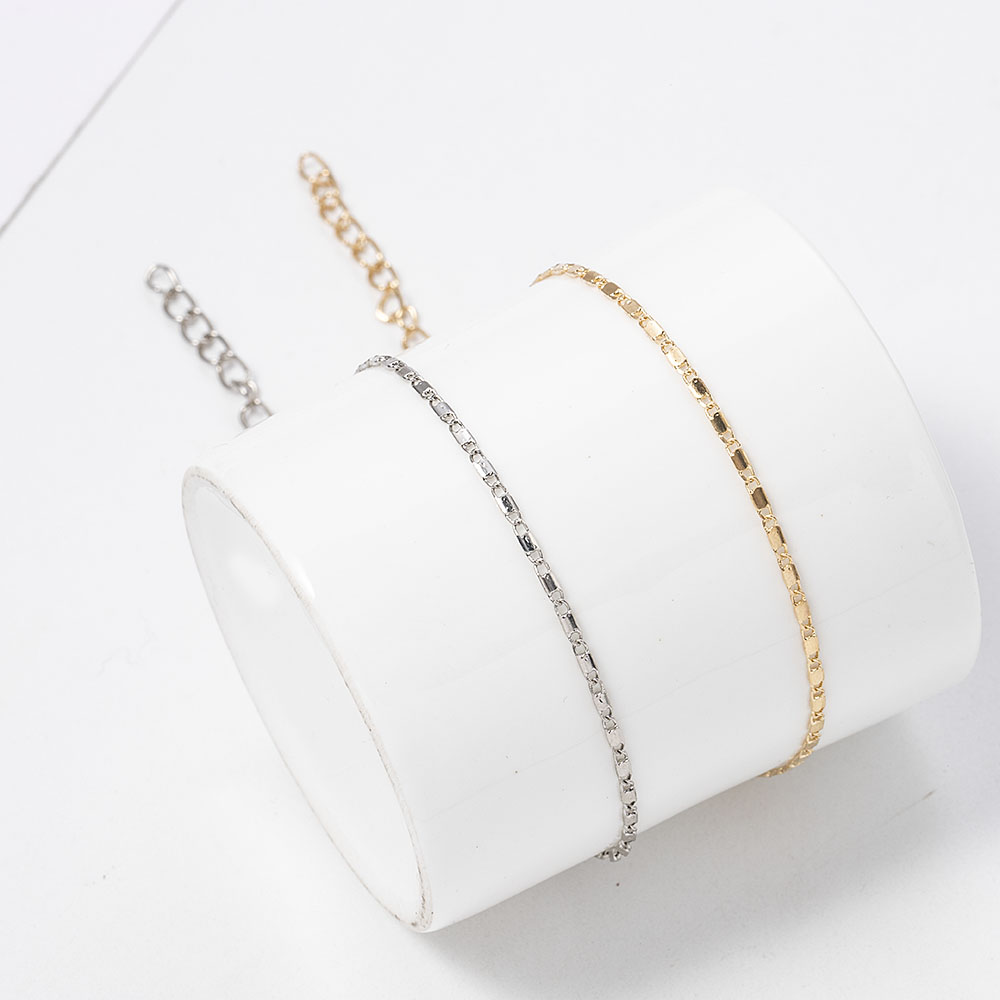Women Simple Gold Chain Anklet Bracelet Barefoot Sandal Beach Foot Jewelry Bohemian Silver Color Chain Ankle Bracelet on The Leg 3
