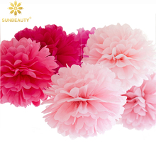 6 uds 15cm 6 pulgadas papel tisú decorativo flores estilo pompón decoración de boda hogar cumpleaños Baby Shower evento Fiesta suministros