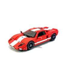 Sports Car Series Building Blocks Compatible MOC-20825 Ford GT Racing Car Technic Bricks lepining Diy Toy Christmas Gift цена 2017