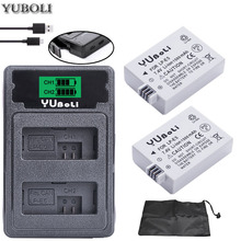 2x bateria LPE5 LP-E5 LP E5 батарея+ двойное зарядное устройство для Canon 450D 500D 1000D Kiss X2 X3 F Rebel XSi Xli XS