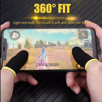 Gaming Finger Sleeve Game Controller Sweatproof Gloves Breathable Fingertips For Mobile Games Touch Screen Finger Cots Cover 2