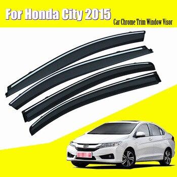 For Honda City 2015 Car Sun Window Visor Rain Guard Vent Shade Accessories 4Pcs