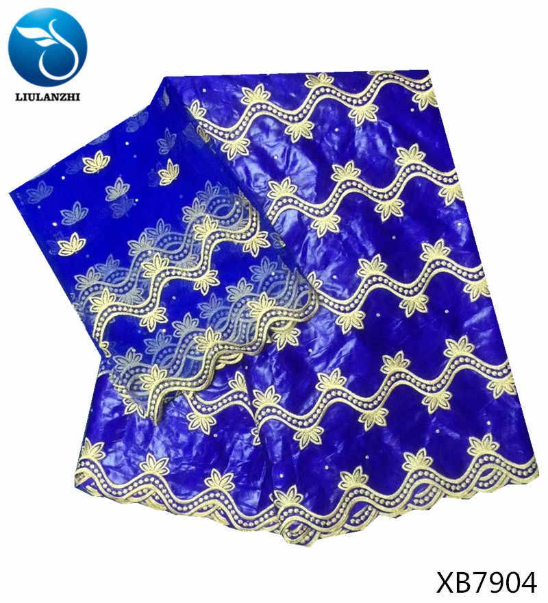 Liulanzhi Bazin con Pietre 2018 Africano Tessuto Batik Guinea Brocade Bazin Riche Getzner per Le Donne Vestiti 7 Metri XB79