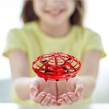 Мини-Дрон НЛО ручной Радиоуправляемый вертолет Квадрокоптер Дрон инфракрасный индукционный самолет летающий шар игрушки для детей игрушка Дрон