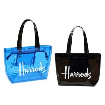 Bolso grande transparente de PVC para mujer, bolsos de hombro tipo shopper de viaje, transparente, transparente, para verano