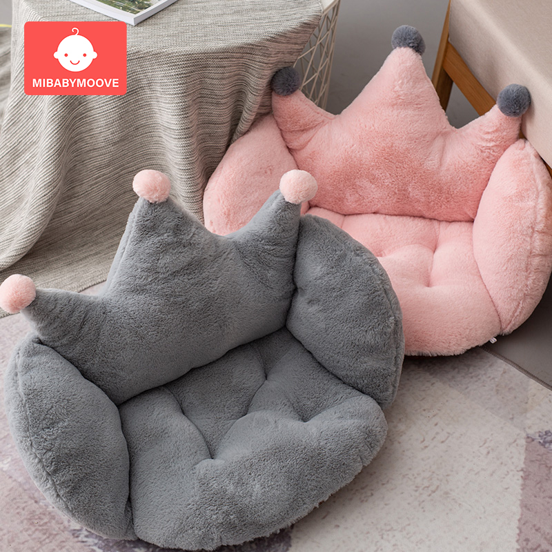 Baby Seats Sofa Chair Cushion Cartoon Crown Plush Seat Pads Floor Cushions Comfortable Filler Cradle Mat For Toddler Children