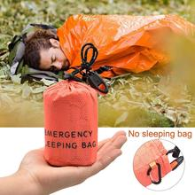 Sleeping Bag Storage Bag Small Round Outer Bags PE Outdoor Camping Hiking Emergency Film Aluminum Bag Drawstring