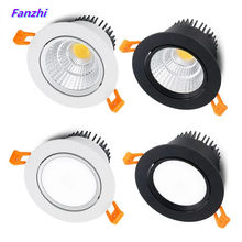 4 types round Dimmable Recessed LED Downlights 5w7w9w12w15w COB LED CeilingLamp Spot Lights AC110-220V LED Lamp Indoor Lighting