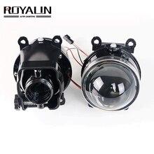 ROYALIN 포드 안개 조명 조절 가능 Opel Mitsubishi Subaru Renault D2S D2H 전구 개조 용 렌즈 바이 크세논 프로젝터 램프