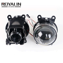 Лампа для проектора ROYALIN, регулируемая линза для противотуманных фар Ford, Биксеноновая лампа для Opel, Mitsubishi, Subaru, Renault D2S, D2H, Модернизированная лампа