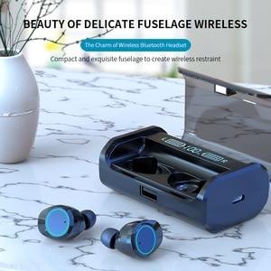 Image 2 - Top Grade 5.0 Bluetooth AAC Code Stereo Earphone Wireless Waterproof Volume Adjust Touch Earbuds Headset Dual LED Display Type c