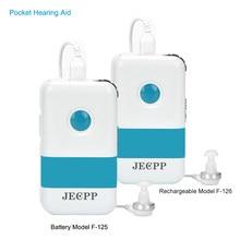 Mini audífono Digital de bolsillo Pockettio F125, amplificador de sonido de pérdida moderada a severa, dispositivo auditivo en oferta, 2021