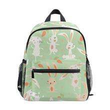 ALAZA Backpack Girl fashion school bag White Rabbit print pattern Womens casual backpack teenagers bags girl