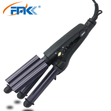 FMK Barrel Roller Hair Curler Iron Waver Ceramic Triple Curling Styling Tools 110-220V Professional Styler Hair Electric Curling недорого