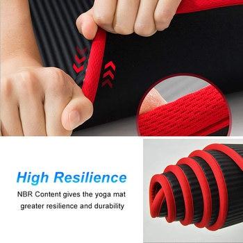 10mm Non-Slip Yoga Mat 183cm*61cm Thickened NBR Gym Mats Sports Indoor Fitness Pilates Yoga Pads коврик для йоги esterilla yoga 4