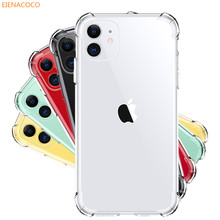 Étui pour iPhone de téléphone en Silicone Transparent antichoc de luxe 11 Pro X XR XS Max 8 7 6 6S Plus couvercle Transparent en polyuréthane thermoplastique pour étui iPhone 5(China)