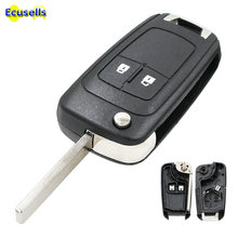 2 botões para chave remota automotiva, capa para opel astra j mokka insignia adão astra j cascata karl zafira c hu100 sem corte