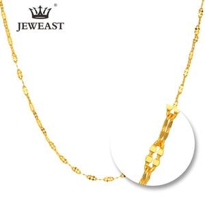 Image 1 - JYZB collier en or pur 24K, véritable AU 999, Simple, à la mode, classique, bijoux fins, offre spéciale, nouveau 2020