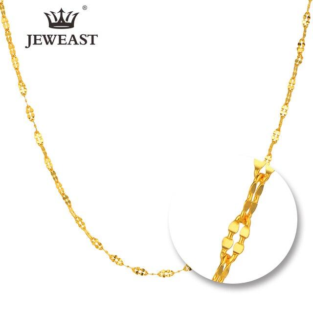 JYZB collier en or pur 24K, véritable AU 999, Simple, à la mode, classique, bijoux fins, offre spéciale, nouveau 2020