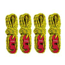 4pcs Multifunction Tent Rope Tent Accessories Outdoor Sports Camping Hiking 400cm Durable Polypropylene Rope