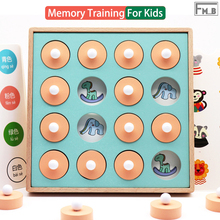 Wooden Memory Match Chess Game Children Early Educational Montessori Toy
