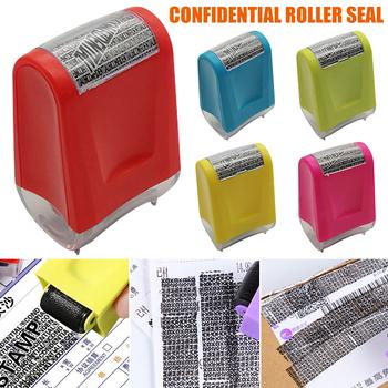Roller Identity ochrona przed kradzieżą pieczęć do ochrony twojego ID prywatność poufne dane nk-shopping tanie i dobre opinie CN (pochodzenie) Stamp