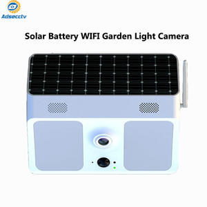 low power solar wide-angle IP66 waterproof PIR wifi wall light surveillance camera for garden patio yard courtyard path
