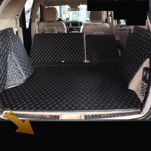custom fit pu leather car trunk mat for Mercedes-Benz W166 ml250 ML350 ML400 ML550 ml63 AMG 2011-2017 3d cargo liner custom fit luxury pu leather car trunk mat cargo mat for toyota venza 2008 2017 5d cargo liner