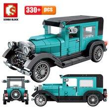 Şehir mekanik klasik araba MOC modeli Bricks Creator için yüksek teknoloji klasik cabrio yarış araç yapı taşları oyuncak çocuklar için