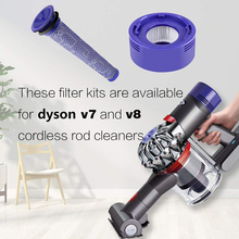 Kit Filters For Dyson V7 V8 Cordless Vacuum Cleaning brush Rear Tool Replacement Practical Useful