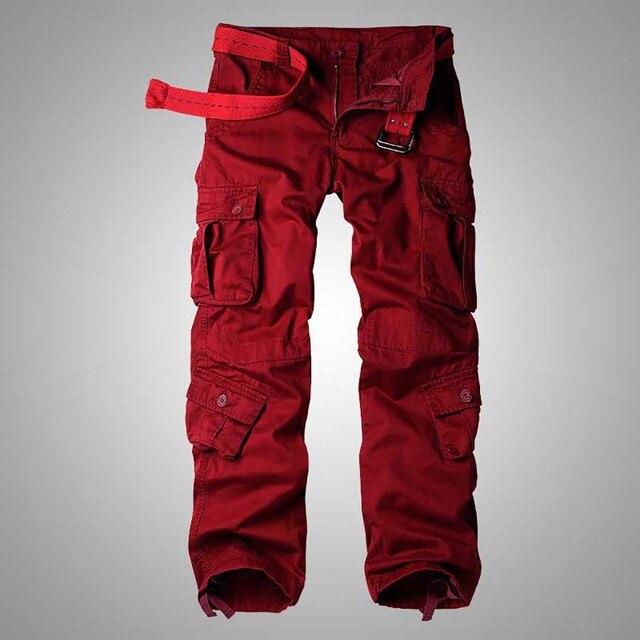 سراويل كبيرة الحجم للرجال والسيدات للربيع والشتاء سراويل واسعة الساق سراويل ركض للرجال ملابس عسكرية مموهة