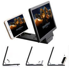 3D Mobile Phone Screen Magnifier HD Video Amplifier Stand Bracket With Movie Game Live Magnifying Folding Phone Holder