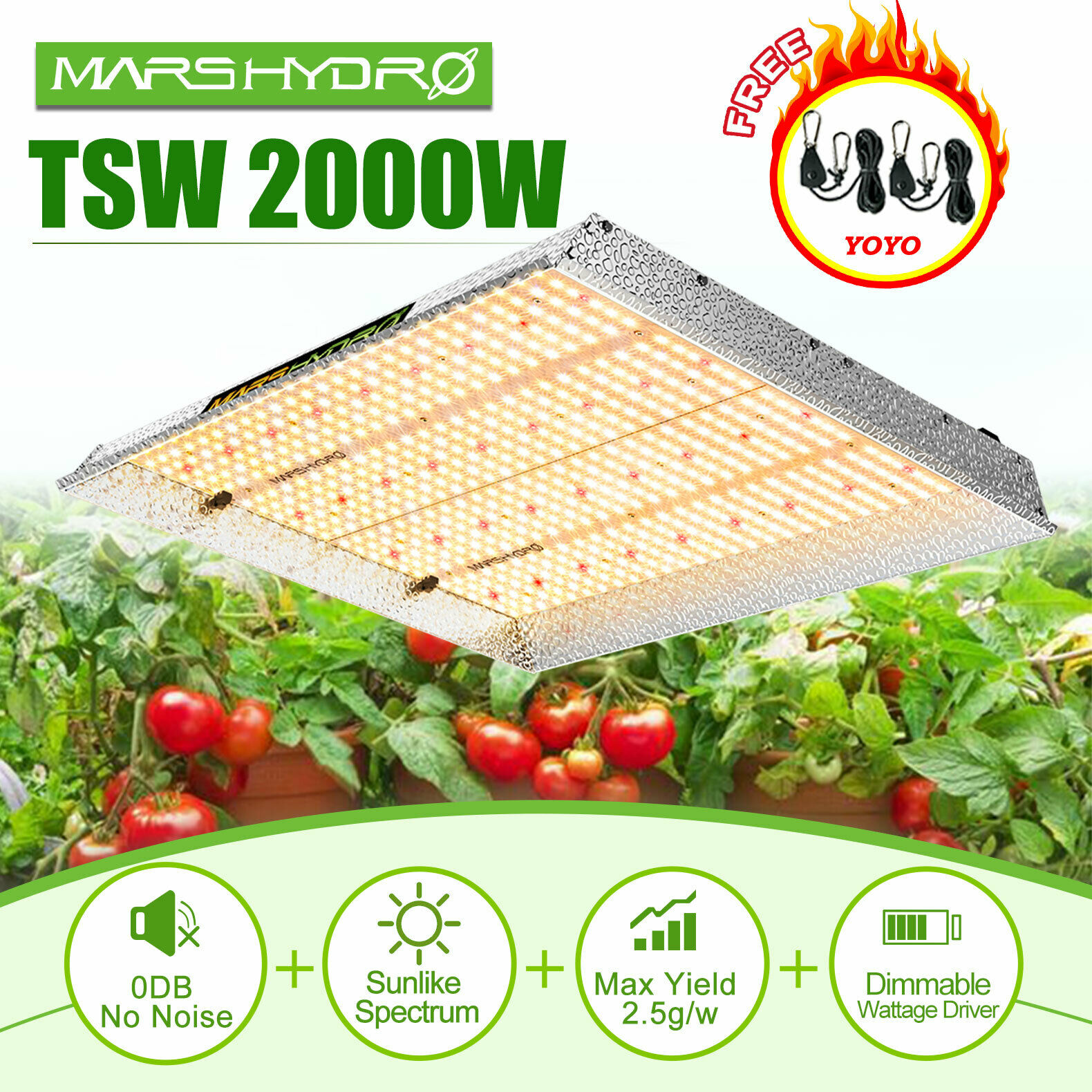 Mars Hydro 2019 TSW 2000W LED Grow Light Full Spectrum Led Grow Light Veg Flower Plant +Indoor Grow Tent Kit Comb Multi-size