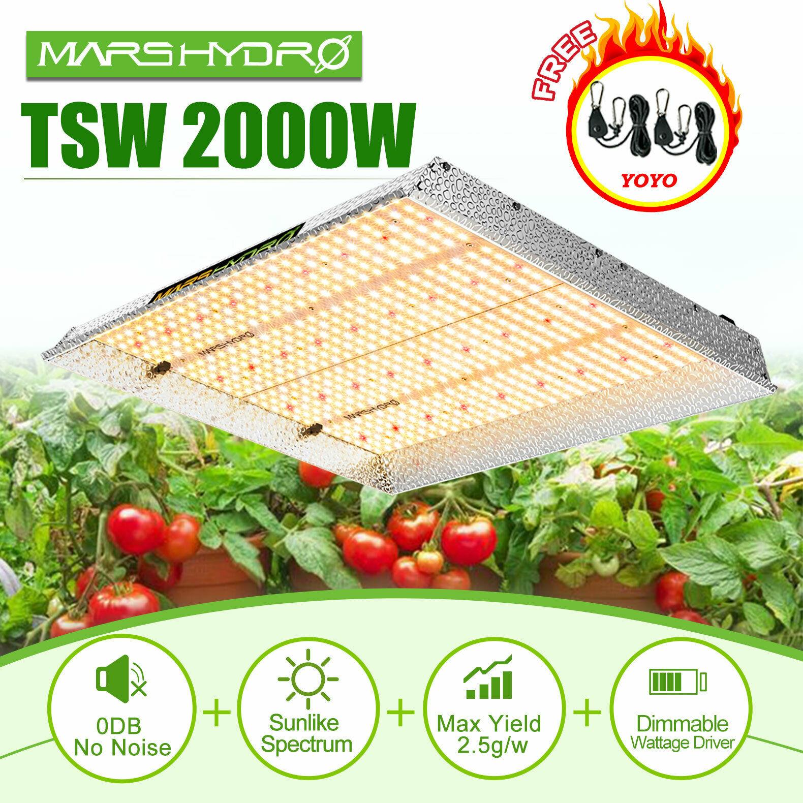 Mars Hydro 2019 TSW 2000W LED Grow Light Full Spectrum Led Grow Light Veg Flower Plant +Indoor Grow Tent Kit Comb Multi-size