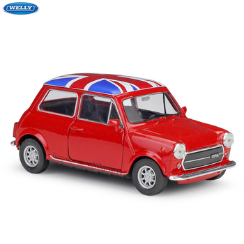 WELLY 1:36 Mini Cooper 1300 alloy car model machine Simulation Collection toy pull-back vehicle Gift collection high simulation 2pcs 4pcs 8pcs 24pcs set alloy pull back model car mini alloy pull back toy car parent child toy for boys gift
