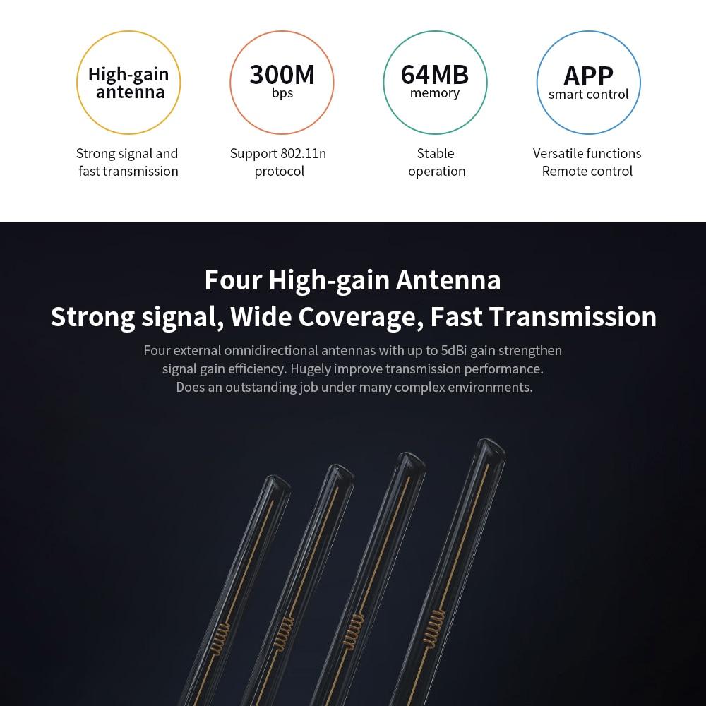 Xiaomi Mi Wifi Router 4C High-Speed Wifi Through The Wall King Home Intelligent Anti-Mite Network 100 Mega Fiber Optical Router 4