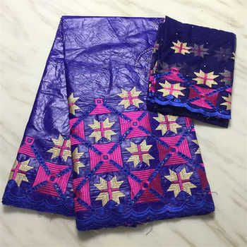 Factory offers Popular Gezner African Bazin riche lace with beads fabric with scarf for Woman Party Dresses 5+2Yds/pcs