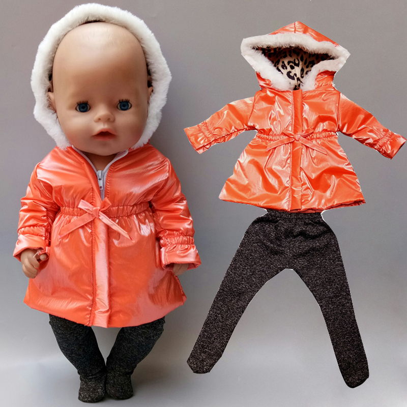 Baby Reborn Doll Clothes Snow Jacket Pants 18 Inch Doll Clothes Fur Coat Doll Toys Wearing