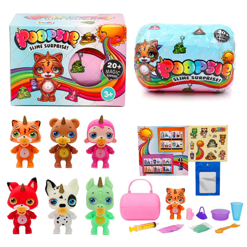 Poopsie Slime Unicorne Soft Relief Stress Soft Clay Doll Rainbow Crystal Mud Rocking Childrens Compressible Kid Toys