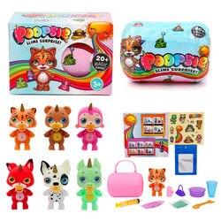 Poopsie slime unicorne alívio macio estresse macio argila boneca arco-íris cristal lama de balanço crianças compressible criança brinquedos