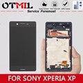 """5 0 """"Original Für SONY Xperia XP LCD Display Touch Screen mit Rahmen Digitizer Für SONY XPERIA X Leistung F8131 f8132 Display-in Handy-LCDs aus Handys & Telekommunikation bei"""
