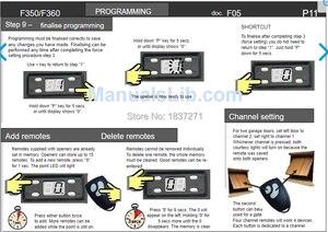 Image 5 - original remote control  FR36B FR36A for foresee FR38 FR46 F 600 F 700G F 500B F 550M/G F 500G F 500M F 500G+ door Garage gate